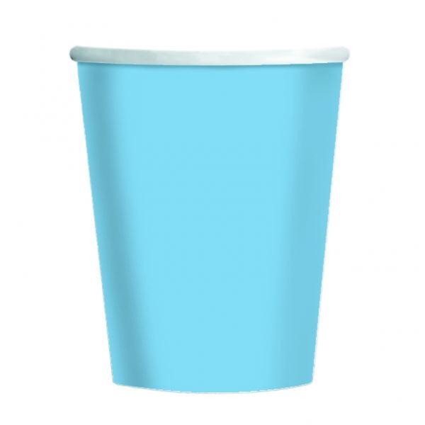 Imagens de Vasos azul claro de cartón (8)