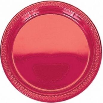 Picture of Platos rojo plástico grandes (10)