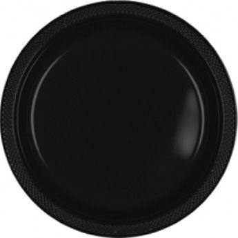 Imagen de Platos negros plástico grandes (10)