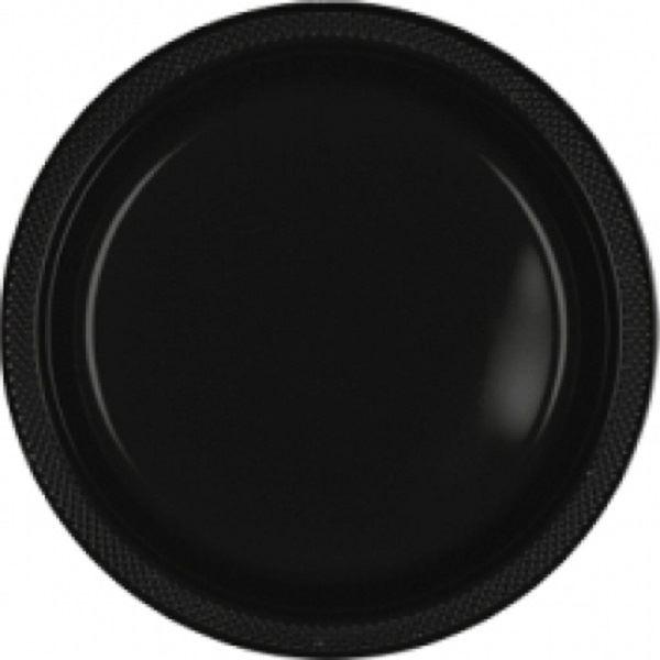 Imagens de Platos negros plástico grandes (10)