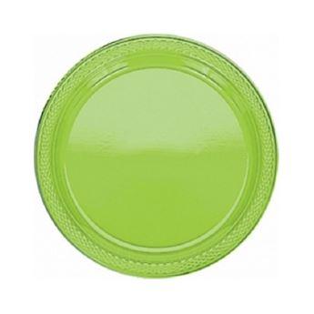 Imagen de Platos verde claro plástico pequeños (10)