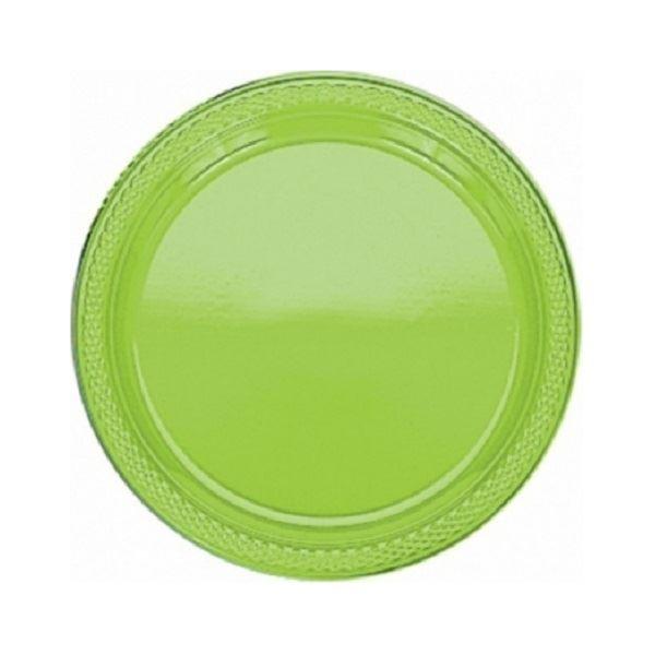 Imagens de Platos verde claro plástico pequeños (10)