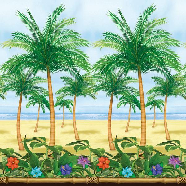 Imagens de Fondo pared escena tropical 12m