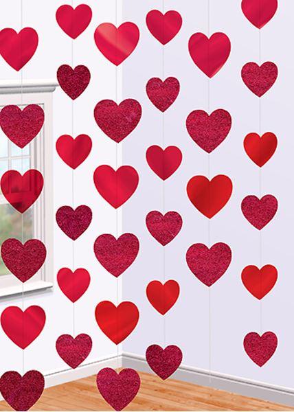 Compra tiras corazones rojos 6 y rec belo en 24h for Decoracion amor y amistad oficina