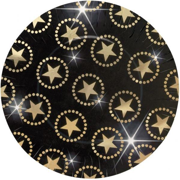Picture of Platos de cartón estrellas grandes (8)