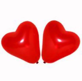 Imagen de Globos corazón rojo pequeños 15cm (50)