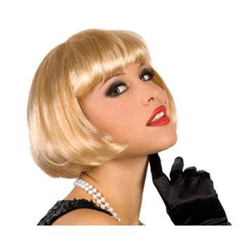 Imagens de Peluca corta rubia cabaret