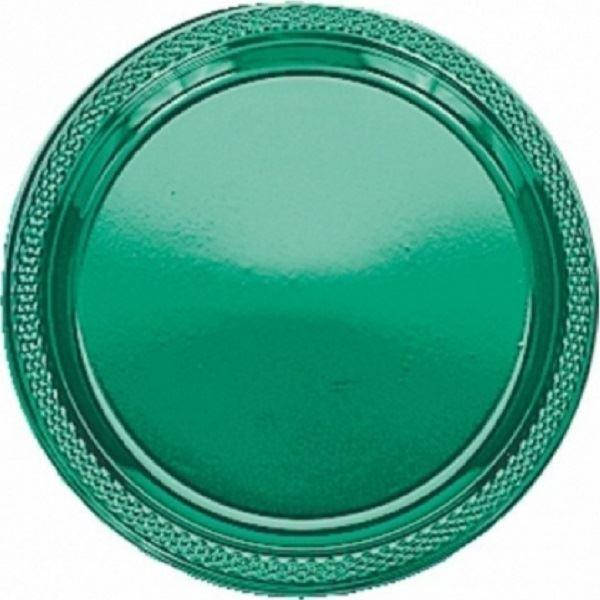 Picture of Platos verde plástico grandes (10)