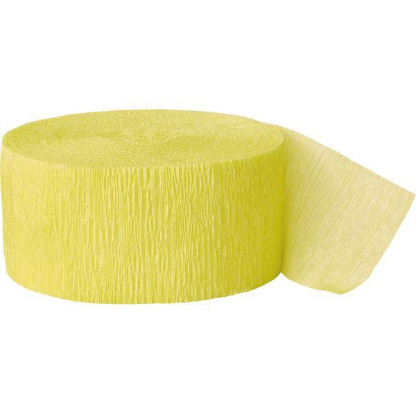 Imagens de Guirnalda amarilla crepé 25m