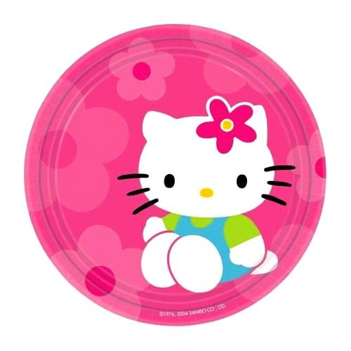 Compra platos hello kitty dulces peque os 8 y rec belo for Platos dulces