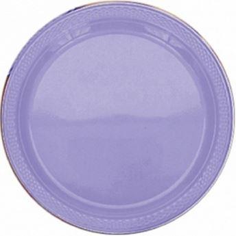 Picture of Platos lavanda plástico grandes (10)