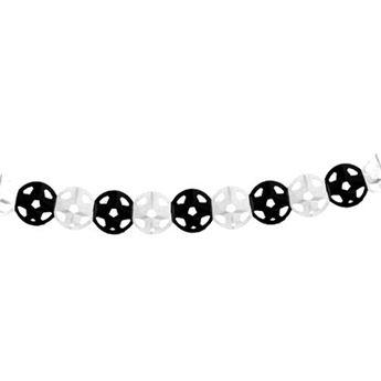 Imagen de Guirnalda fútbol blanca y negra