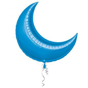Imagen de Globo luna azul 66cm (3Uds)