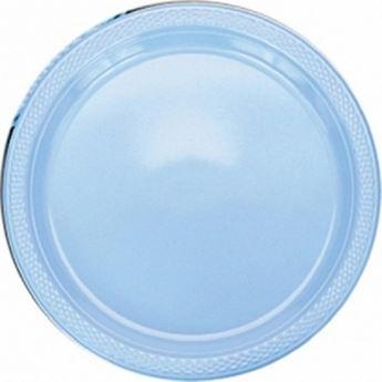 Picture of Platos azul claro plástico grandes (10)