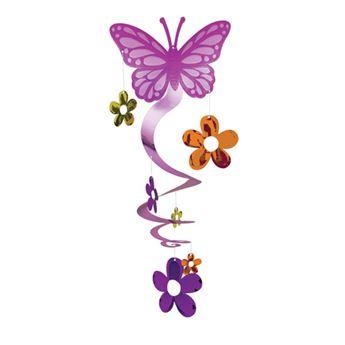 Imagen de Decorado colgante mariposa y flores
