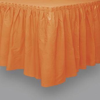 Imagen de Falda de mesa naranja