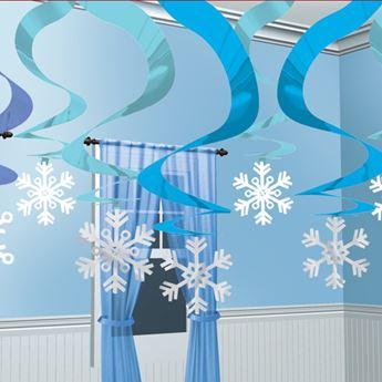 Imagen de Decorados espirales nieve azul (15)
