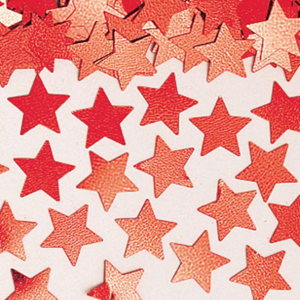Imagens de Confeti estrellas rojas (14g)