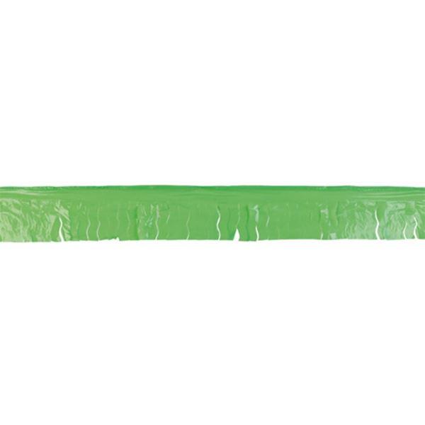 Imagen de Guirnalda verde claro flecos plástico 25m