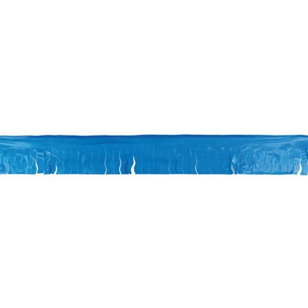 Imagen de Guirnalda azul flecos plástico 25m