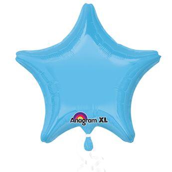 Imagen de Globo estrella azul celeste