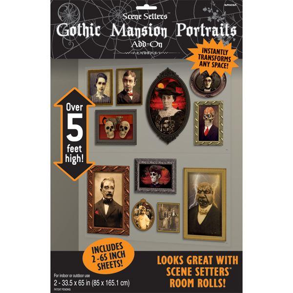 Imagen de Decorados pared retratos góticos