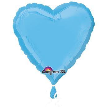 Imagen de Globo corazón azul celeste