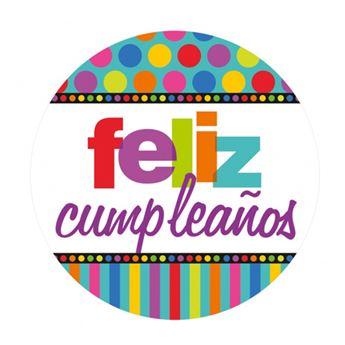 Imagen de Platos feliz cumpleaños puntos grandes (8)