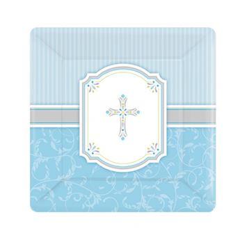 Imagen de Platos comunión azul pequeños (8)