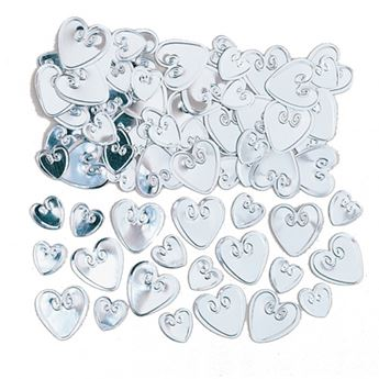 Imagens de Confeti corazones plata (14g)