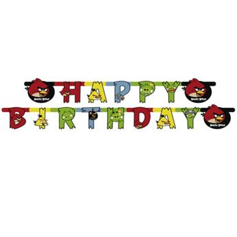 Picture of Banner Happy Birthday Angry Birds
