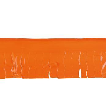Imagen de Guirnalda naranja flecos plástico 25m