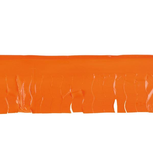 Imagens de Guirnalda naranja flecos plástico 25m