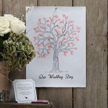 Imagen de Lámina huellas recuerdos boda