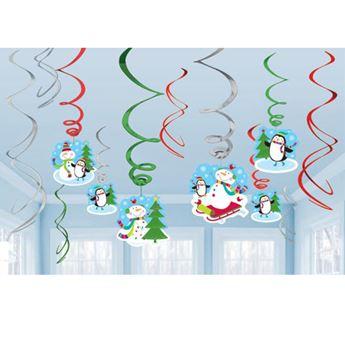 Imagen de Decorados espirales navidad feliz (12)