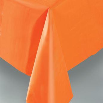 Imagen de Mantel naranja plástico rectangular