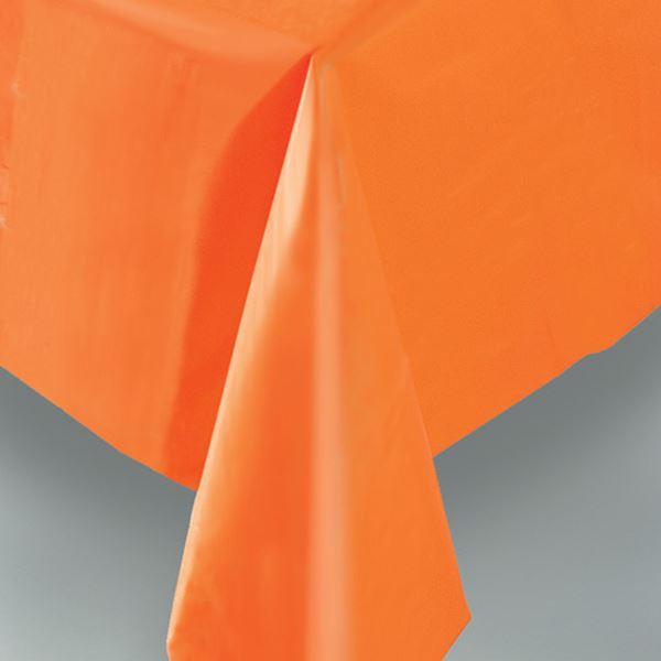 Imagens de Mantel naranja plástico rectangular