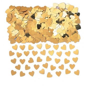 Imagen de Confeti corazones oro (14gr)