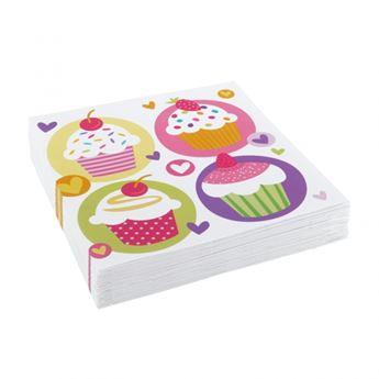 Imagen de Servilletas cupcake colores (20)