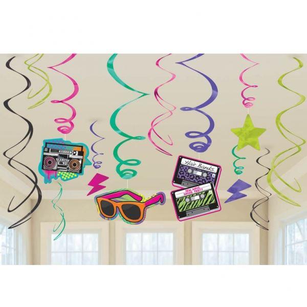 Imagen de Decorados espirales Fiesta Años 80 (12)