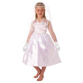 Imagen de Disfraz novia con velo 8-10 años