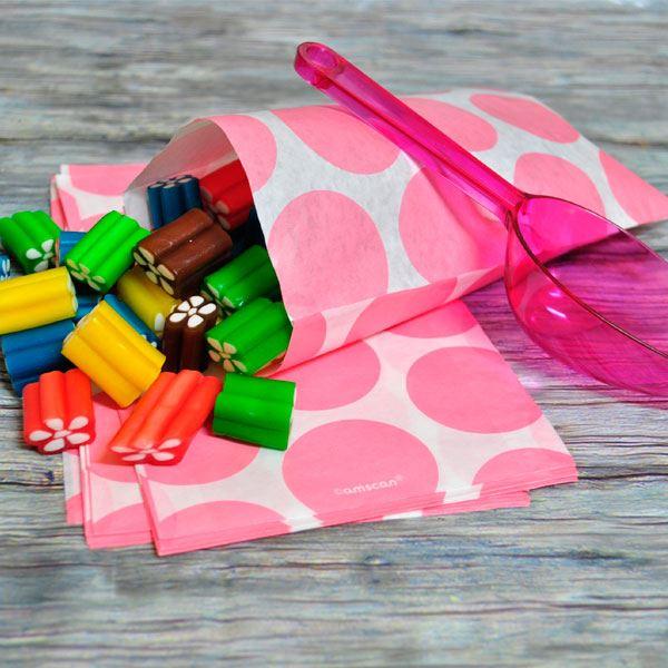 Imagen de Bolsas candy bar rosa pastel papel (10)
