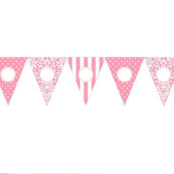 Imagens de Banderín rosa personalizable