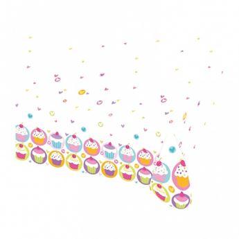 Imagen de Mantel cupcake colores