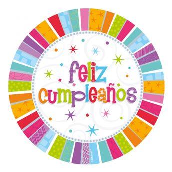 Picture of Platos Feliz Cumpleaños radiante (8)