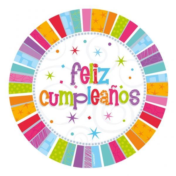 Imagen de Platos Feliz Cumpleaños radiante (8)