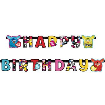 Picture of Banner Happy Birthday Furby
