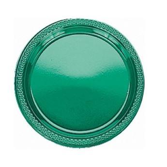 Imagen de Platos verdes plástico pequeños (10)