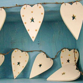 Picture of Banderín corazones de madera 2metros