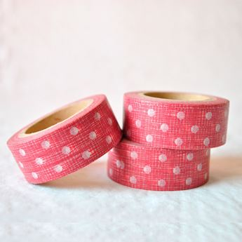 Picture of Washi tape rojo con puntos